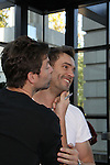 Young & Restless Michael Muhney & Daniel Goddard kiss at the Soapstar Spectacular starring actors from OLTL, Y&R, B&B and ex ATWT & GL on November 20, 2010 at the Myrtle Beach Convention Center, Myrtle Beach, South Carolina. (Photo by Sue Coflin/Max Photos)