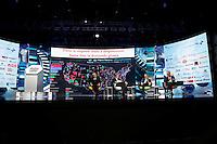 partecipa ad un convegno di Confindustria a Napoli