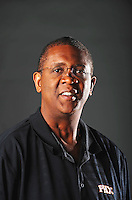 Dec. 16, 2011; Phoenix, AZ, USA; Phoenix Suns coach Bill Cartwright poses for a portrait during media day at the US Airways Center. Mandatory Credit: Mark J. Rebilas-