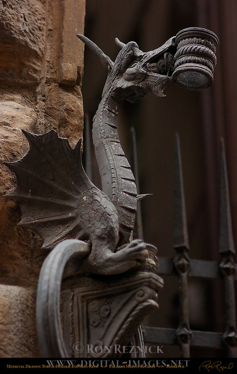 Medieval Dragon Torch Holder and Rein-Ring Palazzo Medici-Ricardi Florence