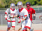 Palos Verdes, CA 03/26/16 - Colin Fitt (Palos Verdes #77) in action during the CIF Boys Lacrosse game between San Clemente Tritons and the Palos Verdes Seakings at Palos Verdes High School.  Palos Verdes defeated San Clemente 11-6