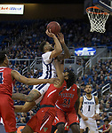 Jalen Harris (2) shoots during the Fresno State at Nevada basketball game in Reno, Nev., Saturday, Feb. 22, 2020..
