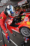 Bas Leinders (BEL), pilot from the Gillet Vertigo G2 #101, Belgian Racing Team, relaying the first pilot Renaud Kuppens (BEL) on the early hours of this race, Saturday, August 2, 2008, in Spa-Francorchamps, Belgium. (Valentin Bianchi/pressphotointl.com)