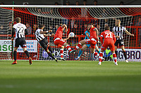 Wes Thomas (39) of Grimsby Town scores the first goal for his team during Crawley Town vs Grimsby Town, Sky Bet EFL League 2 Football at Broadfield Stadium on 9th March 2019