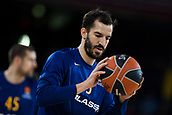 3rd November 2017, Palau Blaugrana, Barcelona, Spain; Turkish Airlines Euroleague Basketball, FC Barcelona Lassa versus Olympiacos Piraeus; 5 RIBAS, PAU of FC Barcelona Lassa in warms up during the match of round 5 of regular season in the 2017/2018 Turkish Airlines EuroLeague
