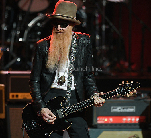 NEW YORK, NY - March 9 : Billy Gibbons Performs on stage at 'Love Rocks NYC! A Change is Gonna Come: Celebrating Songs of Peace, Love and Hope' A Benefit Concert for God's Love We Deliver at Beacon Theatre on March 9, 2017 in New York City. @John Palmer / Media Punch