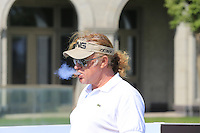 Miguel Angel Jimenez (ESP) on the 10th tee during Tuesday's Pro-Am Day of the 2014 BMW Masters held at Lake Malaren, Shanghai, China 28th October 2014.<br /> Picture: Eoin Clarke www.golffile.ie