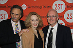 Arthur Kopit (Playwright), Jan Maxwell, John Doyle (Director) at the Off-Broadway Opening night of Second Stage Theatre's production of Wings on October 24, 2010 in New York City, NY with the after party at HB Burger. (Photo by Sue Coflin/Max Photos)