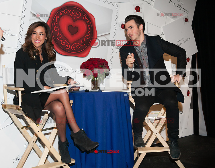 NEW YORK, NY - FEBRUARY 5: The United States Postal Service has teamed up with celebrity couple Kevin and Danielle Jonas, stars of the hit television series 'Married to Jonas' to unveil the 2013 Sealed with Love (Forever) Love stamp. on February 5, 2013 in New York City. © Diego Corredor/MediaPunch Inc.