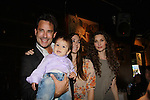 Ricky Paull Goldin & son Kaii and Christina Bennett Lind and Alicia Minshew at All My Children's Good Night Pine Valley was held on September 17, 2011 at Prohibition, New York City, New York.  (Photo by Sue Coflin/Max Photos)