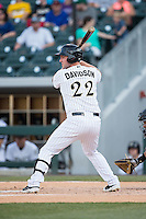 Matt Davidson (22) of the Charlotte Knights at bat against the Indianapolis Indians at BB&T BallPark on June 20, 2015 in Charlotte, North Carolina.  The Knights defeated the Indians 6-5 in 12 innings.  (Brian Westerholt/Four Seam Images)