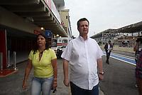 SAO PAULO, SP, 07 DE JULHO 2012 - FORMULA TRUCK - ETAPA SAO PAULO - O prefeito de Sao Paulo Gilberto Kassab durante os treinos livres na manhã deste sábado para a quinta etapa da Fórmula Truck, realizada no Autódromo de Interlagos, em São Paulo. O treino classificatório ocorre na tarde de hoje e a corrida será realizada amanhã. (FOTO: LUIZ GUARNIEIRI / BRAZIL PHOTO PRESS).