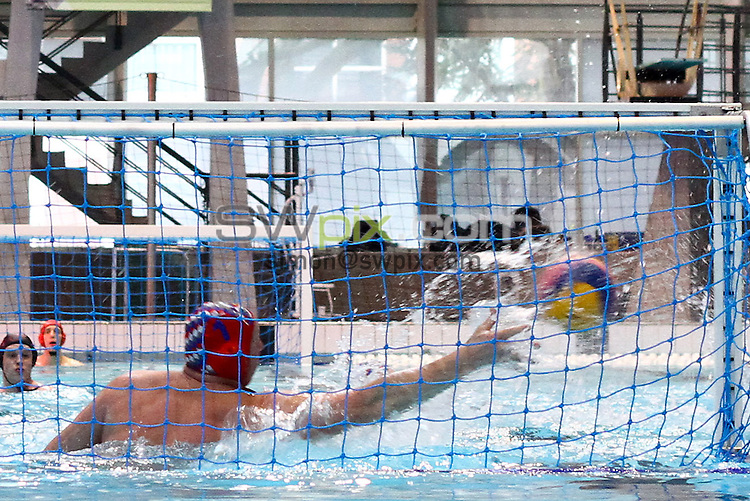 PICTURE BY ALEX WHITEHEAD/SWPIX.COM - Water Polo - British Gas Water Polo Championships 2013 - Men's Final, Bristol Central v Lancaster - Manchester Aquatics Centre, Manchester, England - 24/02/13 - Bristol Central score a goal.