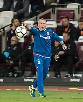 Stoke City Manager Paul Lambert during the Premier League match between West Ham United and Stoke City at the Olympic Park, London, England on 16 April 2018. Photo by Andy Rowland.