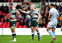 Dan Cole of Leicester Tigers shows his frustration late in the game. European Rugby Champions Cup semi final, between Leicester Tigers and Racing 92 on April 24, 2016 at The City Ground in Nottingham, England. Photo by: Patrick Khachfe / JMP