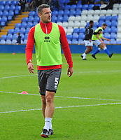 Lincoln City's Jason Shackell during the pre-match warm-up<br /> <br /> Photographer Andrew Vaughan/CameraSport<br /> <br /> The EFL Sky Bet League One - Macclesfield Town v Lincoln City - Saturday 15th September 2018 - Moss Rose - Macclesfield<br /> <br /> World Copyright &copy; 2018 CameraSport. All rights reserved. 43 Linden Ave. Countesthorpe. Leicester. England. LE8 5PG - Tel: +44 (0) 116 277 4147 - admin@camerasport.com - www.camerasport.com