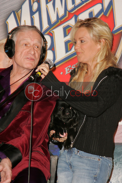 """Hugh Hefner and Bridget Marquardt<br /> at """"Milwaukee's Best"""" Bash hosted by 97.1 Free FM's """"Two Chicks and a Bunny,"""" Playboy Mansion, Beverly Hills, CA 02-25-06<br /> <br /> David Edwards/DailyCeleb.com 818-249-4998"""
