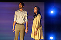 "Bush Theatre presents ""AN ADVENTURE"", by Vinay Patel. Directed by Madani Younis, with design by Rosanna Vize. The cast is: Nila Aalia, Martins Imhangbe, Aysha Kala, Selva Rasalingam, Shubham Saraf and Anjana Vasan. Picture shows: Shubham Saraf, Anjana Vasan."