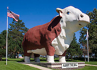 Albert, the World's Largest Bull, has been guarding the peaceful streets of Audubon since 1964. He is 30 feet tall and 33 feet long, and has a 15-foot span between horns.