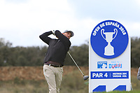 Adam Bland (AUS) on the 11th tee during Round 2 of the Open de Espana 2018 at Centro Nacional de Golf on Friday 13th April 2018.<br /> Picture:  Thos Caffrey / www.golffile.ie<br /> <br /> All photo usage must carry mandatory copyright credit (&copy; Golffile | Thos Caffrey)