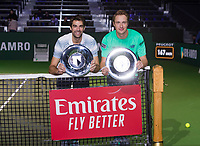 Rotterdam, The Netherlands, 17 Februari 2019, ABNAMRO World Tennis Tournament, Ahoy, Final, Doubles, <br /> Jeremy Chardy (FRA) / Henri Kontinen (FIN) winners,<br /> Photo: www.tennisimages.com/Henk Koster