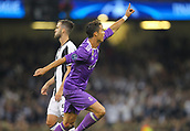 June 3rd 2017, National Stadium of Wales , Wales; UEFA Champions League Final, Juventus FC versus Real Madrid; Cristiano Ronaldo of Real Madrid celebrates after scoring his sides first goal in the 20th minute of the match