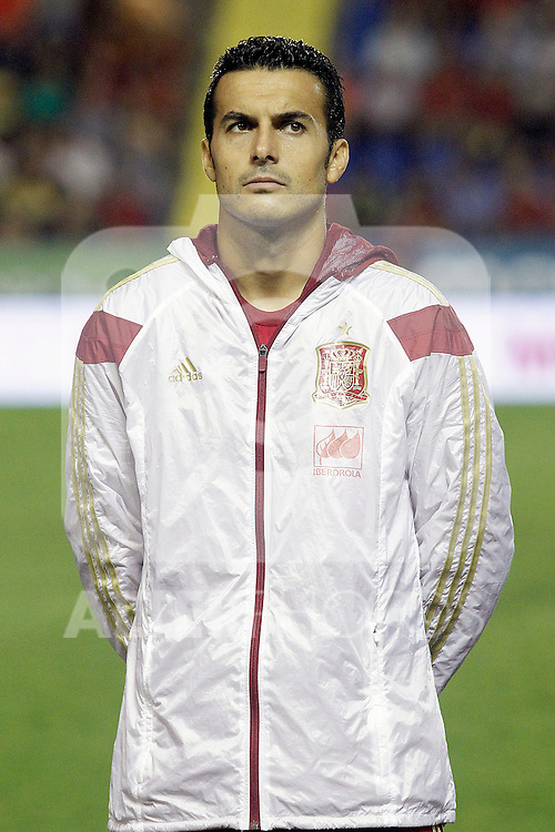 Spain's Pedro Rodriguez during 15th UEFA European Championship Qualifying Round match. September 8,2014.(ALTERPHOTOS/Acero)