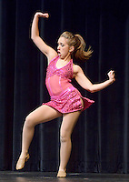 NWA Democrat-Gazette/BEN GOFF @NWABENGOFF<br /> Makenzie Simpson performs a dance routine on Thursday Sept. 24, 2015 during Talent Night of the Miss Bentonville High School Scholarship Pageant in the school's Arend Arts Center. Evening gown, finals and awards for the pageant will be held at the school on Saturday at 7:00p.m.