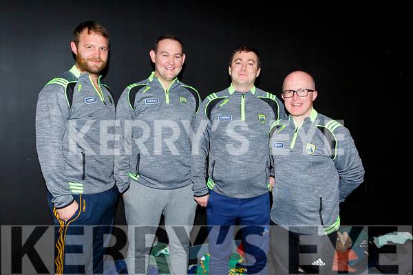 U16 Management Team: L to r: Gary and Aidan Boyle (Ballyduff), Stephen Goggin (Manager-Causeway) and Brian Shanahan (Tralee Parnells)