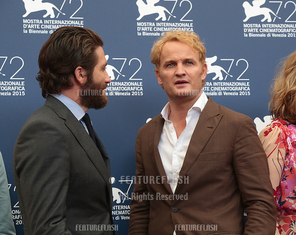 Jake Gyllenhaal &amp; Jason Clarke at the photocall for Everest at the 2015 Venice Film Festival.<br /> September 02, 2015  Venice, Italy<br /> Picture: Kristina Afanasyeva / Featureflash