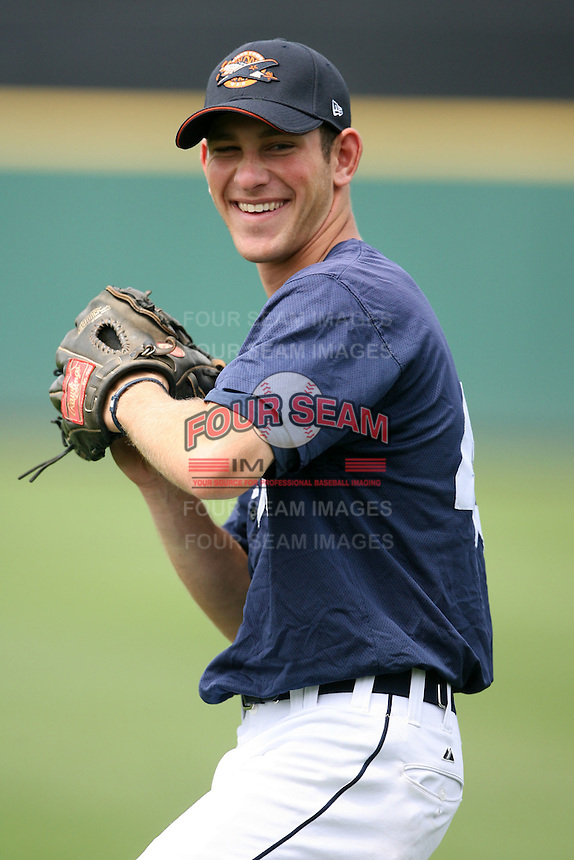 April 11, 2009:  Right Fielder Kyle Peter of the Lakeland Tigers, Florida State League Single-A affiliate of the Detroit Tigers, during a game at Joker Marchant Stadium in Lakeland, FL.  Photo by:  Mike Janes/Four Seam Images