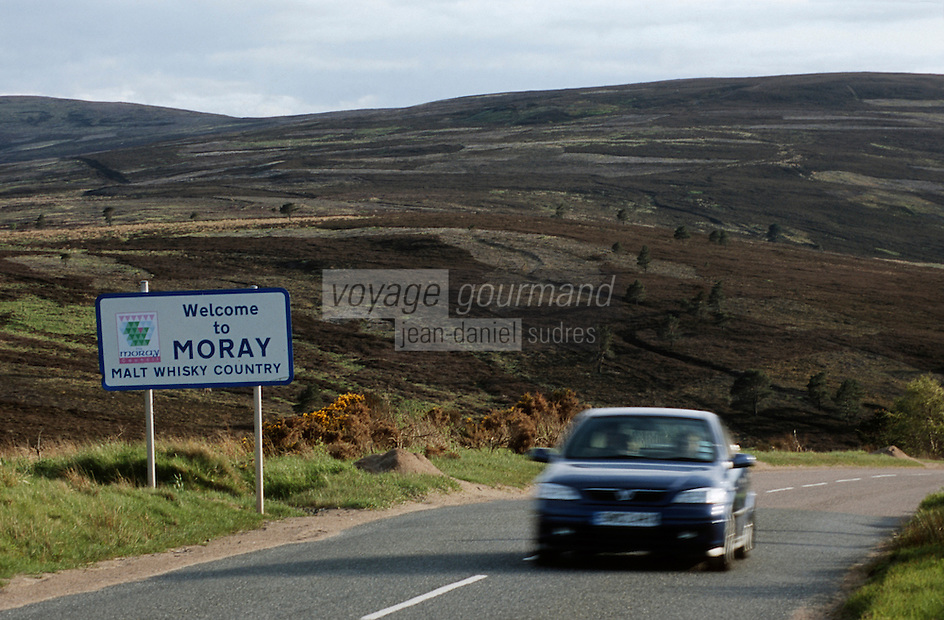 Europe/Royaume-Uni/Ecosse/Moray: Paysage de landes du Moray le pays du Malt Whisky