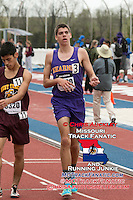 Kearney sophomore Clayton Adams finishes in the boys 3200 in 9:22.36 at the 2015 Kansas Relays.