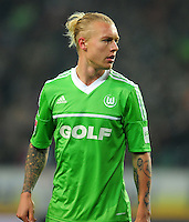FUSSBALL   1. BUNDESLIGA    SAISON 2012/2013    15. Spieltag   VfL Wolfsburg - Hamburger SV                               02.12.2012 Simon Kjaer (VfL Wolfsburg)