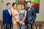 Kevin Johnson Horgan Alannah O'Sullivan Anna Morrison and Luke Clapman at the CBS The Green Students' Debs Ball at the Ballyroe Heights Hotel on Saturday night