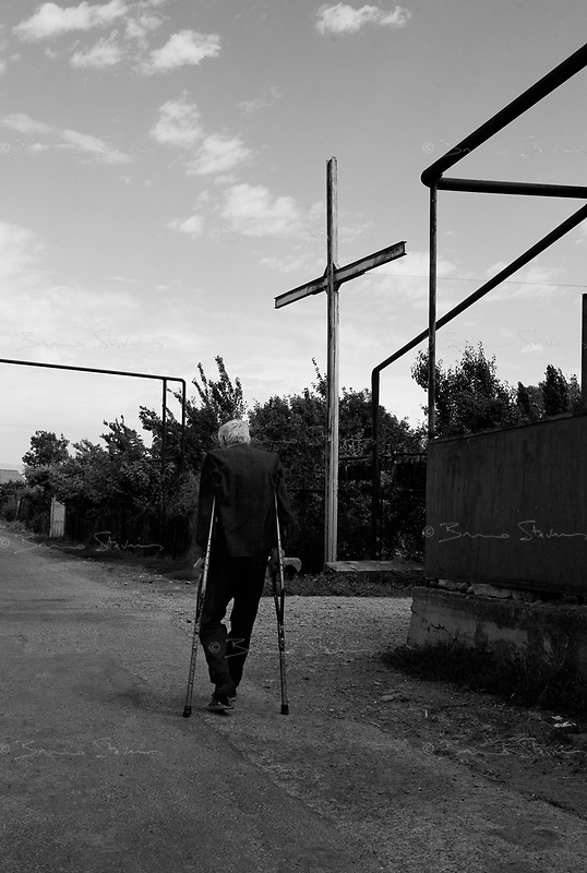 """Sveneti, Georgia, August 15, 2008.Villages around Gori and the South Ossetian """"border"""" are mostly deserted, only a few elderly people remain."""