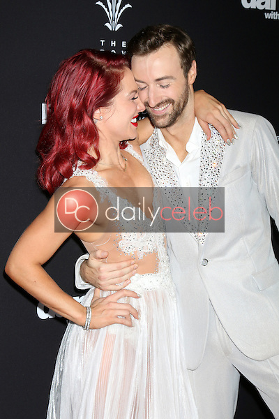 """Sharna Burgess, James Hinchcliffe<br /> at the """"Dancing With The Stars"""" Live Finale, The Grove, Los Angeles, CA 11-22-16<br /> David Edwards/DailyCeleb.com 818-249-4998"""