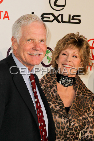 TED TURNER, JANE FONDA. 2010 Environmental Media Association (EMA) Awards at Warner Brothers Studios. Burbank, CA, USA. October 16, 2010. ©CelphImage