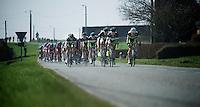 full Greenedge Team in pursuit of the leaders..74th Gent-Wevelgem (2012).236km between Deinze & Wevelgem.winner 2012: Tom Boonen..