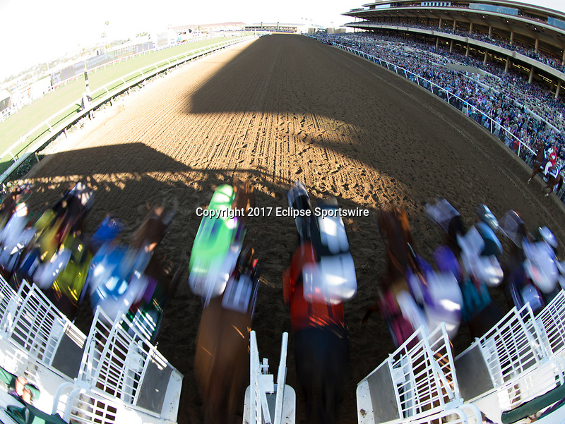 DEL MAR, CA - NOVEMBER 04: The field starts Sentient Jet Breeders' Cup Juvenile on Day 2 of the 2017 Breeders' Cup World Championships at Del Mar Racing Club on November 4, 2017 in Del Mar, California. (Photo by Michael McInally/Eclipse Sportswire/Breeders Cup/