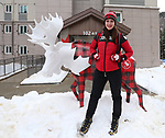 Pyeongchang, Korea, 7mar2018- Team Canada Pep Rally, Flag Raising and branding in Athletes Village: Photo Scott Grant