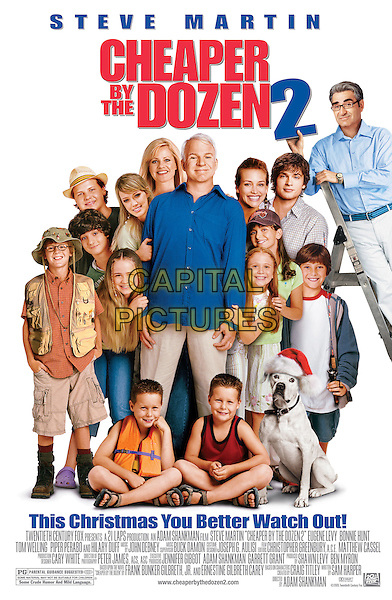 POSTER WITH TEXT.in Cheaper By The Dozen 2.*Editorial Use Only*.www.capitalpictures.com.sales@capitalpictures.com.Supplied by Capital Pictures.
