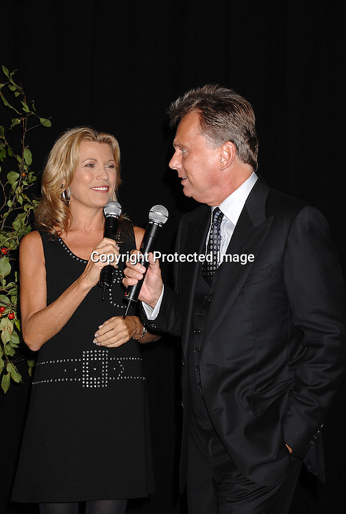 "Vanna White and Pat Sajak ..at The 25th Anniversary party for ""Wheel of Fortune"" ..on September 27, 2007 at Radio City Music Hall, where they will tape 3  weeks of shows.....photo by Robin Platzer, Twin Images....212-935-0770"