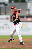 Batavia Muckdogs pitcher Cody Crabaugh (39) during a game against the Mahoning Valley Scrappers on August 31, 2013 at Dwyer Stadium in Batavia, New York.  Batavia defeated Mahoning Valley 11-0.  (Mike Janes/Four Seam Images)