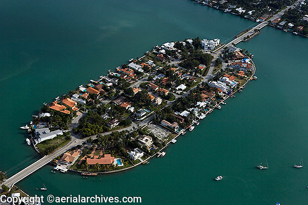 aerial photograph San Marco island Biscayne Bay Miami Florida