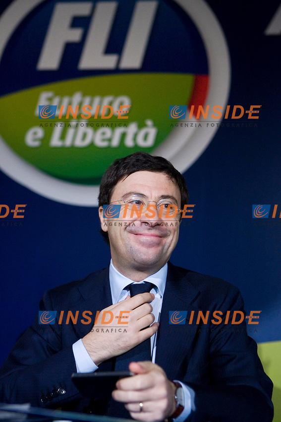 Italo Bocchino..FLI - Assemblea Nazionale di Futuro e Liberta'..Roma, 20 Marzo 2011..Photo  Serena Cremaschi Insidefoto..........