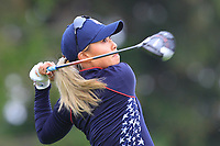 Danielle Kang (USA) on the 2nd tee during Day 3 Singles at the Solheim Cup 2019, Gleneagles Golf CLub, Auchterarder, Perthshire, Scotland. 15/09/2019.<br /> Picture Thos Caffrey / Golffile.ie<br /> <br /> All photo usage must carry mandatory copyright credit (© Golffile | Thos Caffrey)