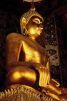 Buddha Wat Suthat Temple Bangkok Thailand