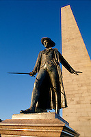 William Prescott statue, Bunker Hill monument, Charlestown, MA