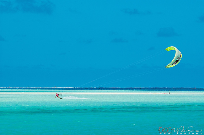 Kite surfing in Maupiti, French Polynesia